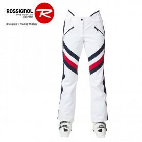 Pantalon de ski ROSSIGNOL/HILFIGER Shimmering Blanc Femme