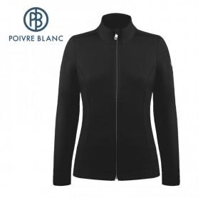 Veste stretch POIVRE BLANC W19-1500 WO Noir Femme