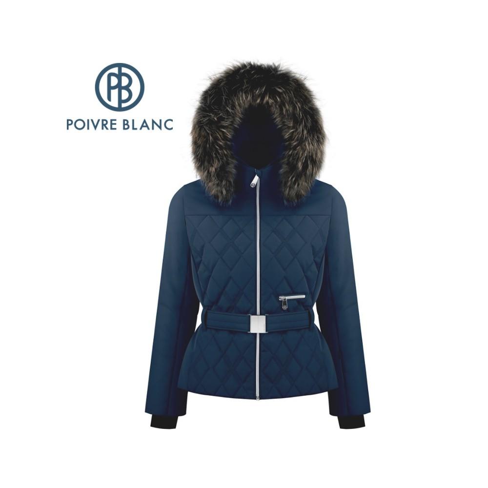 Veste de ski POIVRE BLANC W19-1003 WO/B Bleu marine Femme