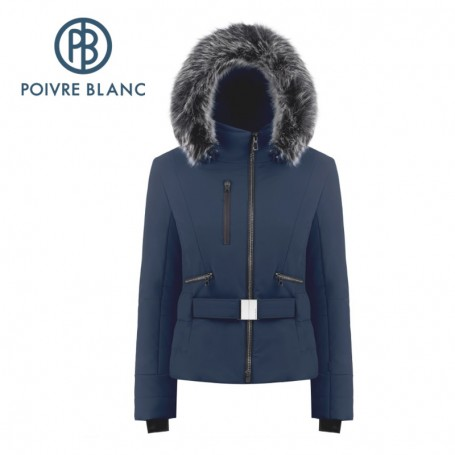 Blouson de ski POIVRE BLANC W19-0806 WO/A Bleu marine Femme