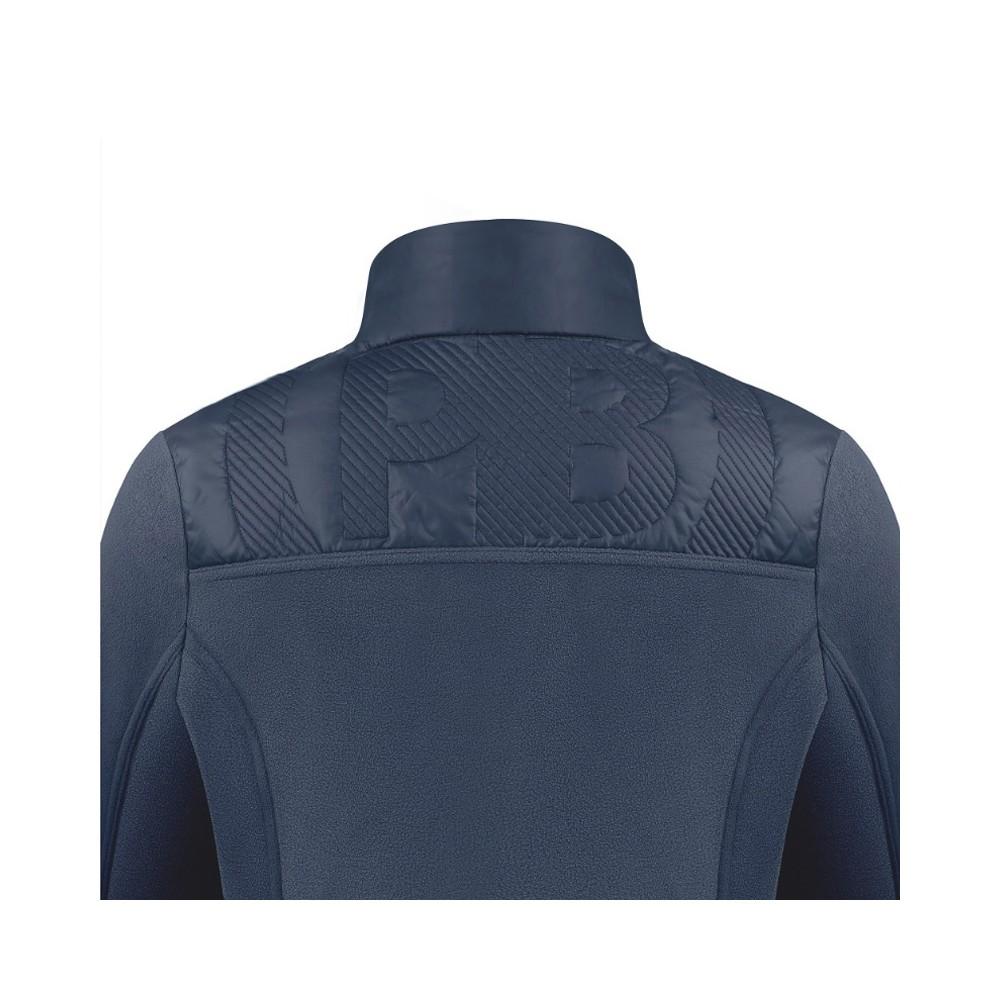 Veste Polaire Hybrid Fleece Jacket 1601 Gothic Blue 4 Femme Bleu Poivre Blanc Femme