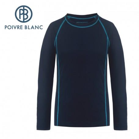 Maillot merinos POIVRE BLANC W19-1804 WO Bleu Femme