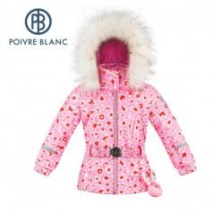 Veste de ski POIVRE BLANC W19-1008 BBGL/A Rose Coeur BB Fille