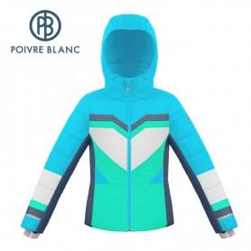 Veste de ski POIVRE BLANC W19-1004 JRGL Bleu / Vert Fille