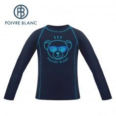 Maillot merinos POIVRE BLANC W19-1840 BBUX Bleu BB Junior