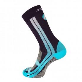 Chaussettes de ski RYWAN Atmo Walk Noir / Bleu Femme