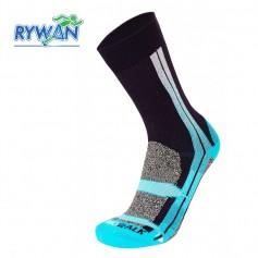 Chaussettes de randonnée RYWAN Atmo Walk Prune / Bleu Femme
