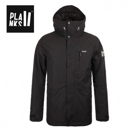 Veste de ski PLANKS Feel Good Insulated Noir Homme