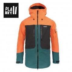Veste de ski PLANKS Tracker Insulated Noir / Orange Homme