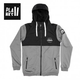 Sweat Softshell PLANKS Réunion Gris Homme