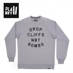 Sweat PLANKS Drop Cliff Crew Gris Homme