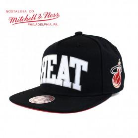 Casquette MITCHELL & NESS Miami Heat Noir Sonic Unisexe