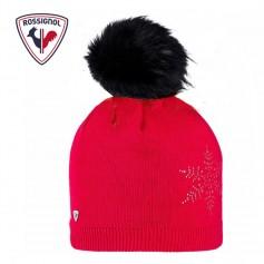 Bonnet de ski ROSSIGNOL Fily Fur Rouge Femme