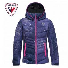Doudoune de ski ROSSIGNOL Girl Polydown Print Bleu Fille