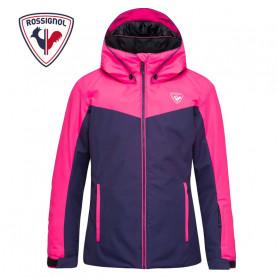 Veste de ski ROSSIGNOL Girl Ski Jacket Bleu / Rose Fille