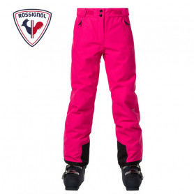 Pantalon de ski ROSSIGNOL Girl Controle Rose Fille