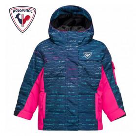 Doudoune de ski ROSSIGNOL Kid Flocon Bleu / Rose Bébé