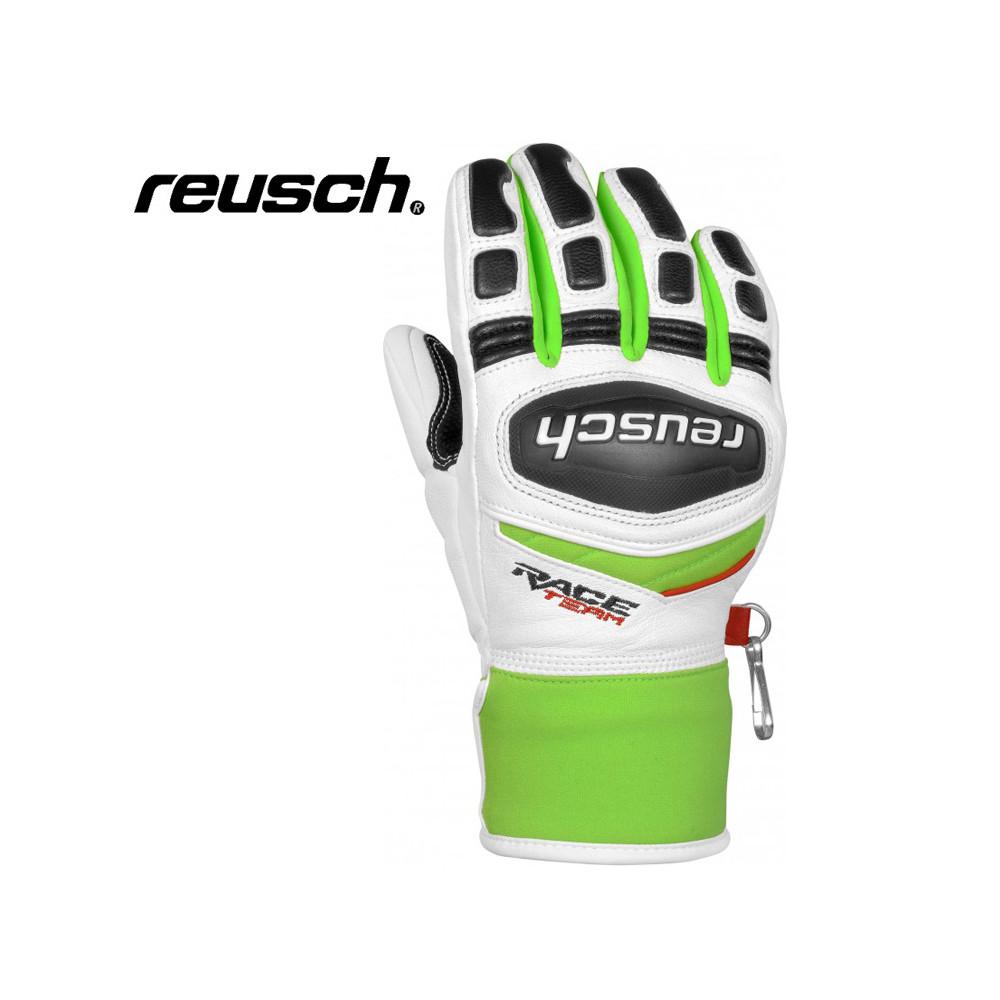 Gants de ski REUSCH GS Blanc / Vert Junior
