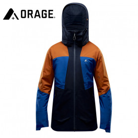 Veste de ski ORAGE Alaskan Bleu / Caramel Homme