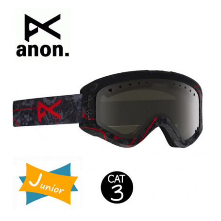 Masque de ski ANON Tracker Noir Junior Cat.3