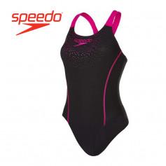Maillot de bain SPEEDO Sports Logo Noir / Rose Femme