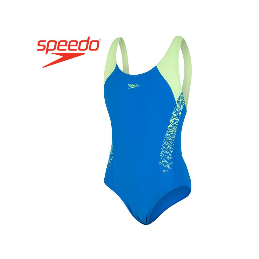 Maillot de bain SPEEDO Boom Splice Bleu / Jaune Fille