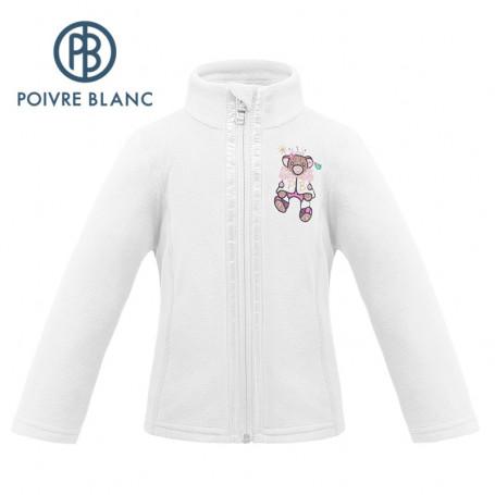 Veste polaire POIVRE BLANC W19-1500 BBGL Blanc BB Fille