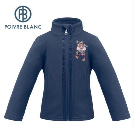 Veste polaire POIVRE BLANC W19-1500 BBGL Bleu marine BB Fille