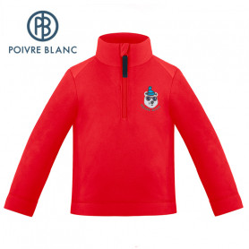 Veste polaire POIVRE BLANC W19-1550 BBBY Rouge BB Garcon