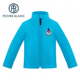 Veste polaire POIVRE BLANC W19-1510 BBBY Bleu clair BB Garcon