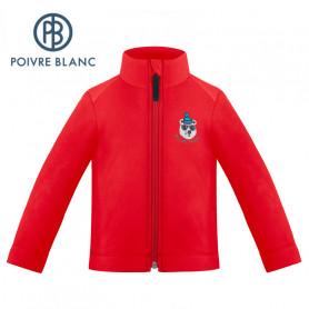 Veste polaire POIVRE BLANC W19-1510 BBBY Rouge BB Garcon