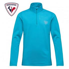 Sous vêtement ROSSIGNOL 1/2 zip Warm Stretch Bleu Garçon