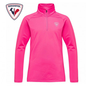 Sous vêtement ROSSIGNOL 1/2 zip Warm Stretch Rose Fille