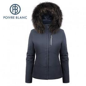 Blouson de ski POIVRE BLANC W19-0802 WO/B Bleu marine Femme