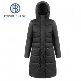 Manteau duvet POIVRE BLANC W19-1207 WO Down Coat Noir Femme