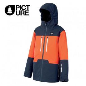 Veste de ski PICTURE Proden Orange / Bleu marine Garçon