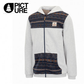 Sweat zippée PICTURE Lands Z Hoody Gris Homme