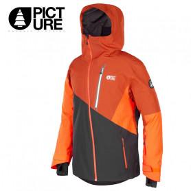 Veste de ski PICTURE Alpin Brique / Noir Homme
