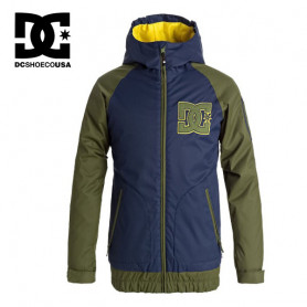 Blouson de ski DC SHOES Troop Bleu / Vert Junior