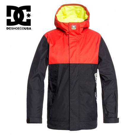 Veste de ski DC SHOES Defy Rouge / Noir Junior