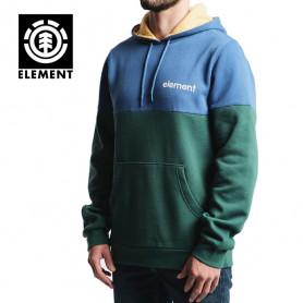 Sweat à capuche ELEMENT Vivid Po Fleece Bleu / vert Homme