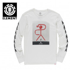 T-shirt ELEMENT Brasilia LS Crème Homme