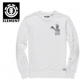 Sweat ELEMENT Split Crew Blanc Homme