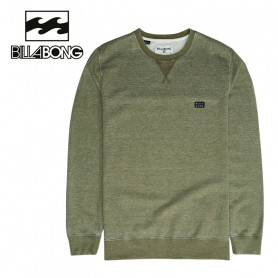 Sweat BILLABONG All Day Washed Crew Vert Homme