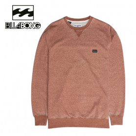 Sweat BILLABONG All Day Washed Crew Cuivre Homme