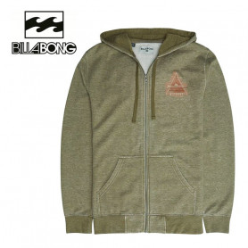Sweat zippé à capuche BILLABONG Curved ZH Vert Homme