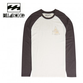 T-shirt BILLABONG Prismboard LS Gris / Crème Homme