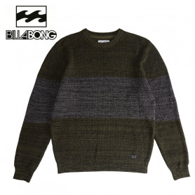 Pull BILLABONG Tribong Sweater Boy Vert / Gris Garçon