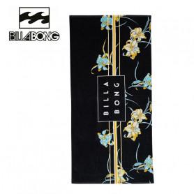 Serviette de plage BILLABONG Die Cut Noir Fleur Unisexe
