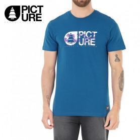 T-shirt PICTURE ORGANIC Basement Palmy Bleu Homme